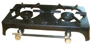 Continental Cast Iron Double Burner Stove