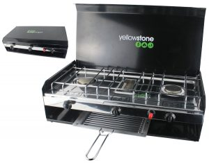 Yellowstone Double Burner with Grill, Lid and Piezo